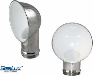 SeaLux Round Stamped 316 Stainless Steel Cowl Vent