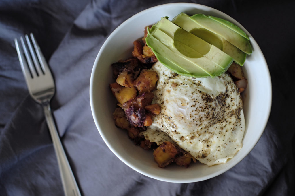 Sweet & Savory Plantain Breakfast Hash